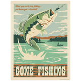 Gone Fishing Bass Decal