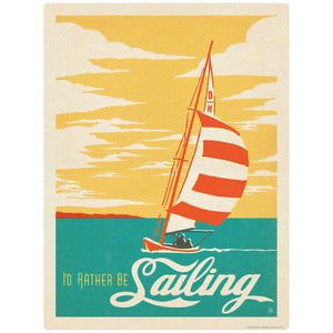 Id Rather Be Sailing Decal