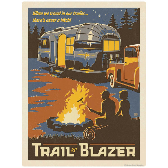 Trailer Blazer Camping Decal