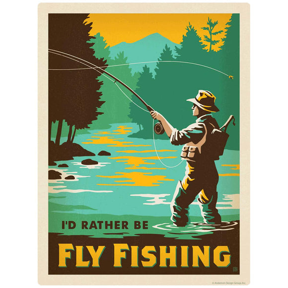 Id Rather Be Fly Fishing Decal