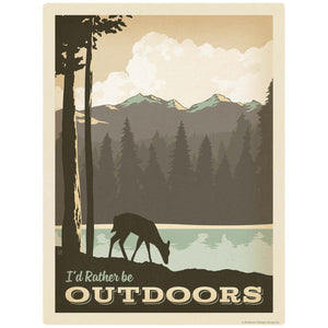 Id Rather Be Outdoors Decal