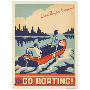 Lets Go Boating Decal