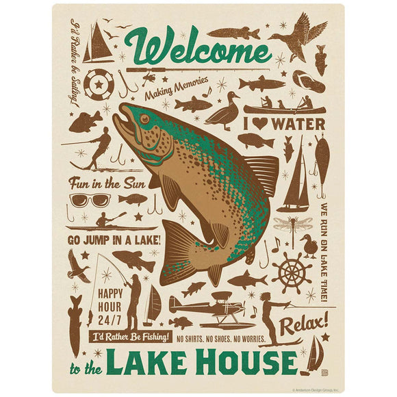 Welcome to the Lake House Decal