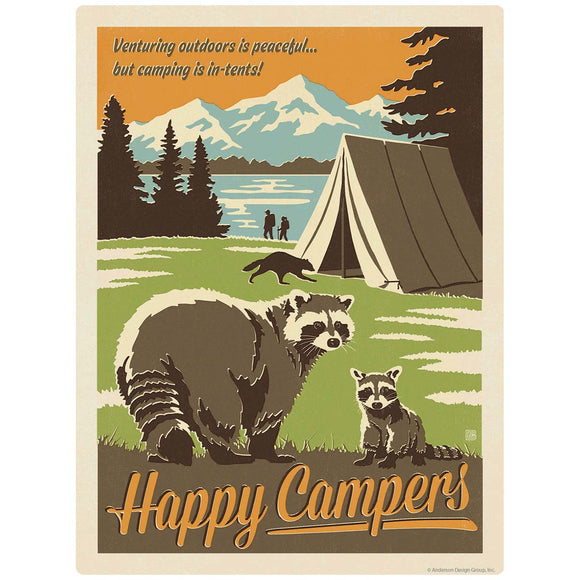 Happy Campers Raccoon Decal