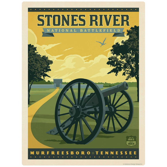 Stones River Battlefield Murfreesboro Tennessee Decal