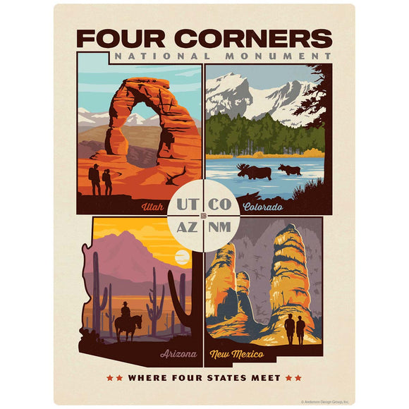 Four Corners Monument UT CO AZ NM Decal