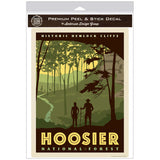 Hoosier National Forest Hemlock Cliffs Indiana Decal