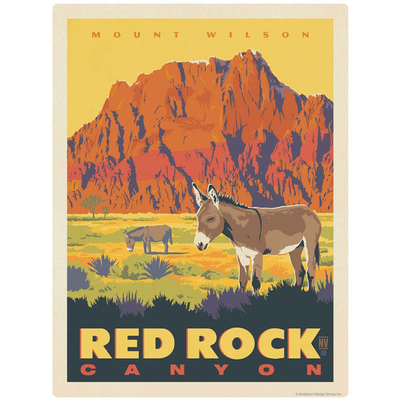 Red Rock Canyon Mt Wilson Las Vegas Decal