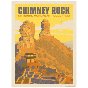 Chimney Rock National Monument Colorado Decal