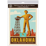 Oklahoma Sooner State Golden Driller Decal