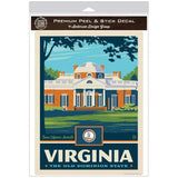 Virginia Old Dominion State Monticello Decal
