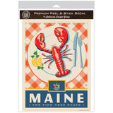 Maine Pine Tree State Lobster Decal