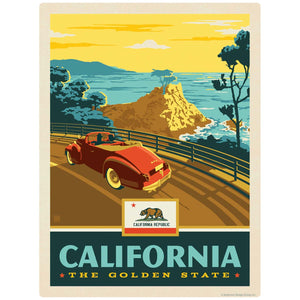 California Coast Golden State Decal