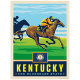 Kentucky Bluegrass State Horse Racing Decal