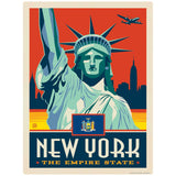 New York Empire State Statue of Liberty Decal