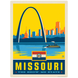 Missouri Show-Me State Gateway Arch Decal