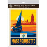 Massachusetts Bay State Lighthouse Decal