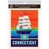 Connecticut Constitution State Clipper Ship Decal