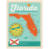 Florida Sunshine State Map Decal