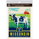 Wisconsin Badger State Cow Decal