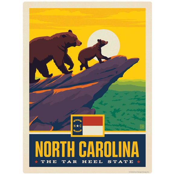 North Carolina Tar Heel State Bears Decal