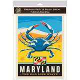 Maryland Old Line State Blue Crab Decal