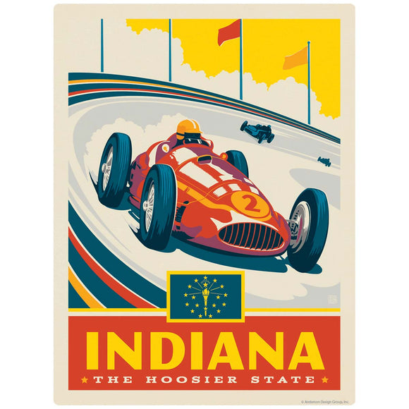 Indiana Hoosier State Indianapolis Speedway Decal