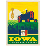 Iowa Hawkeye State Tractor Decal