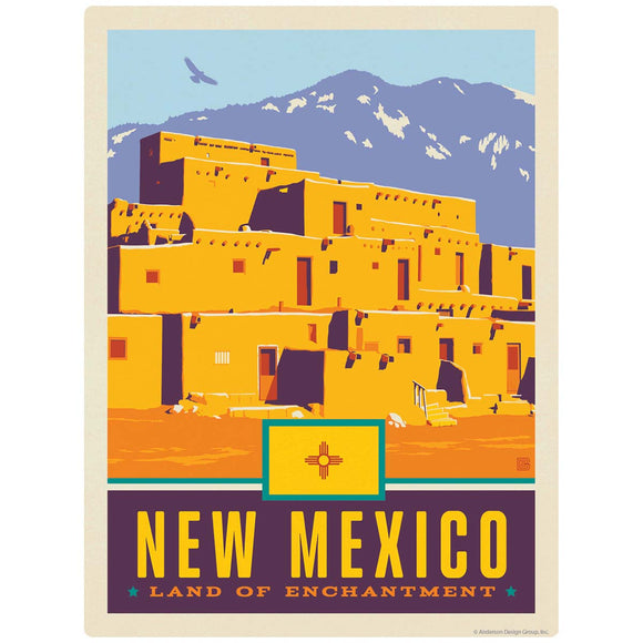 New Mexico Land of Enchantment State Taos Pueblo Decal