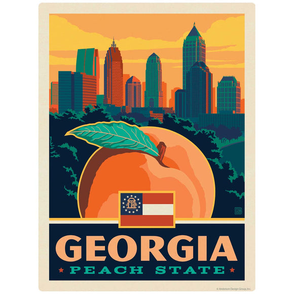 Georgia Peach State Decal