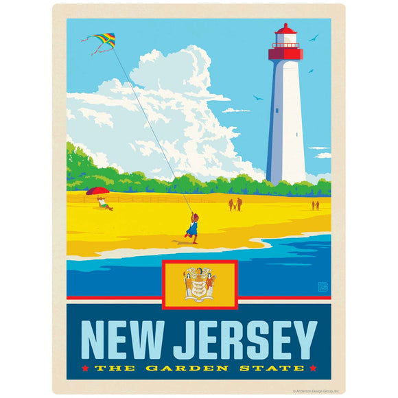New Jersey Garden State Lighthouse Decal