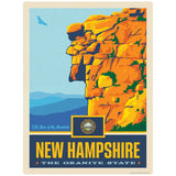 New Hampshire Granite State Old Man of the Mountain Decal