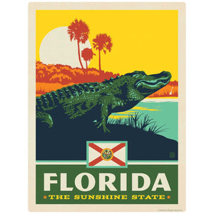 Florida Sunshine State Alligator Decal