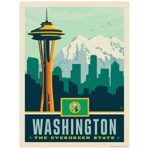 Washington Evergreen State Space Needle Decal
