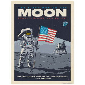 Apollo 11 First Man On the Moon Decal