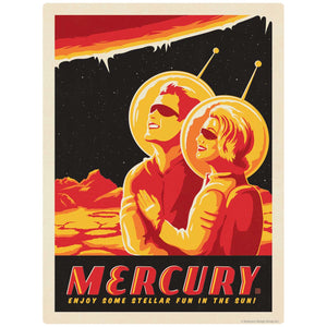 Mercury Space Travel Decal