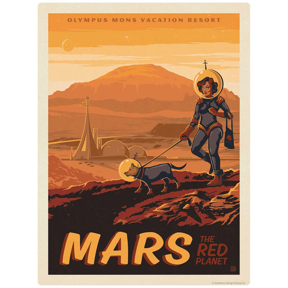 Mars Red Planet Space Travel Decal