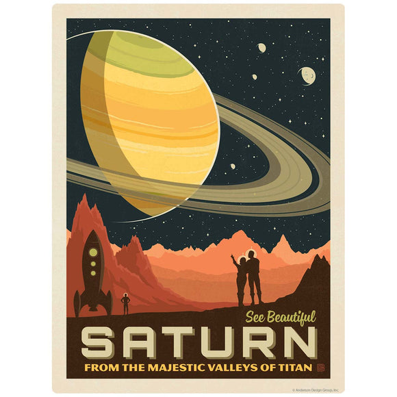 Saturn Space Travel Decal
