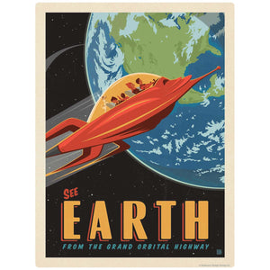 Earth Space Travel Decal