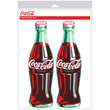 Coca-Cola Green Contour Bottle Sticker Sheet of 2
