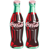 Coca-Cola Green Contour Bottle Wholesale Sticker Set of 2