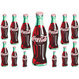 Coca-Cola Green Contour Bottle Wholesale Sticker Set of 13