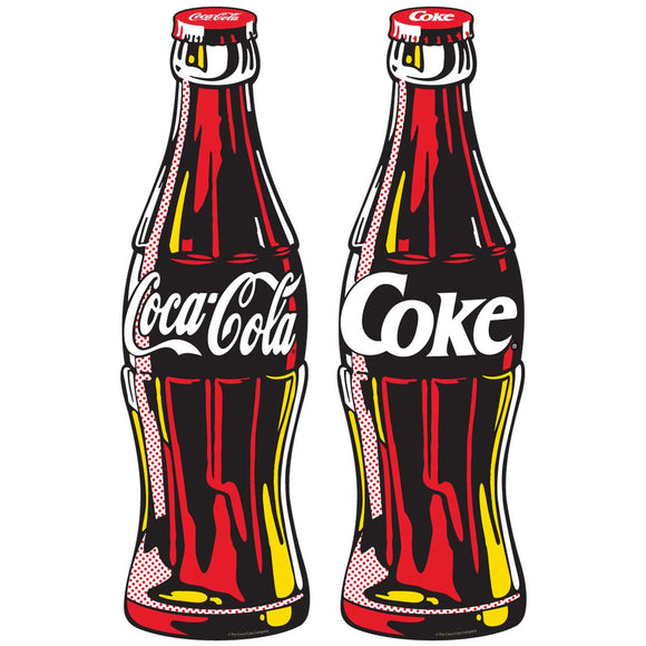 Coca-Cola Contour Bottle Wholesale Sticker Set 0f 2