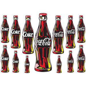 Coca-Cola Contour Bottle Wholesale Sticker Set of 13