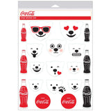 Coca-Cola Polar Bear Emoji Sticker Sheet of 19