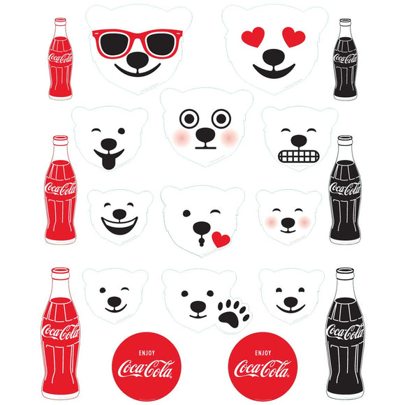 Emoji Polar Bears And Coke Bottles Wholesale Sticker Set