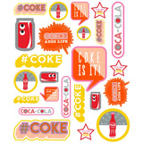 Coca-Cola Modern Retro Coke Wholesale Sticker Set of 24