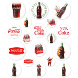 Coca-Cola Button Sticker Sheet - White Wholesale Sticker Set