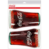 Coca-Cola Bell Soda Glass Sticker Sheet of 2