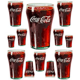 Coke Bell Glass - Assorted Size Glasses Sticker Sheet Wholesale Sticker Set